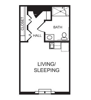 Studio Senior Apartment